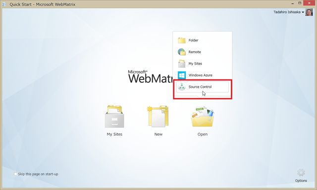 SnapCrab_Quick Start - Microsoft WebMatrix_2013-3-22_23-4-9_No-00