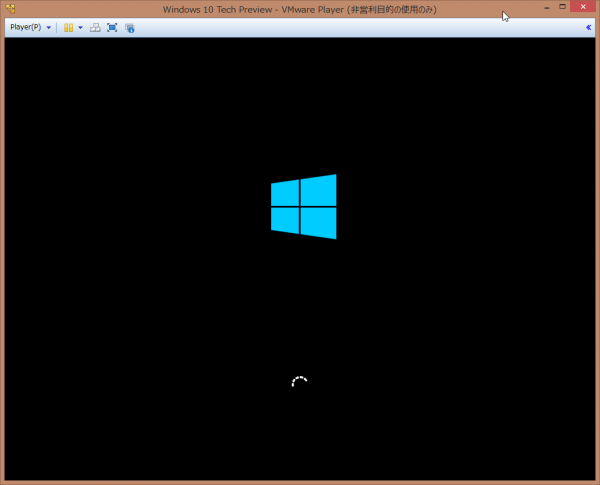 SnapCrab_Windows 10 Tech Preview - VMware Player (非営利目的の使用のみ)_2014-10-2_1-19-43_No-00