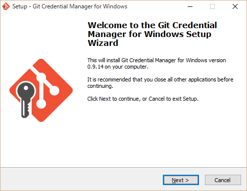 SnapCrab_Setup - Git Credential Manager for Windows_2015-10-19_23-19-53_No-00