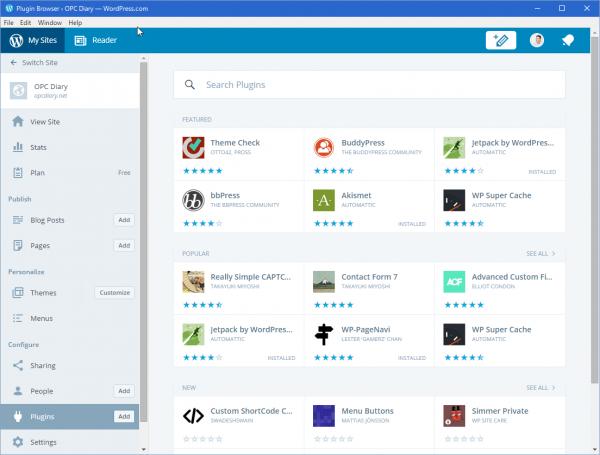 SnapCrab_Plugin Browser ‹ OPC Diary — WordPresscom_2015-12-12_14-38-13_No-00