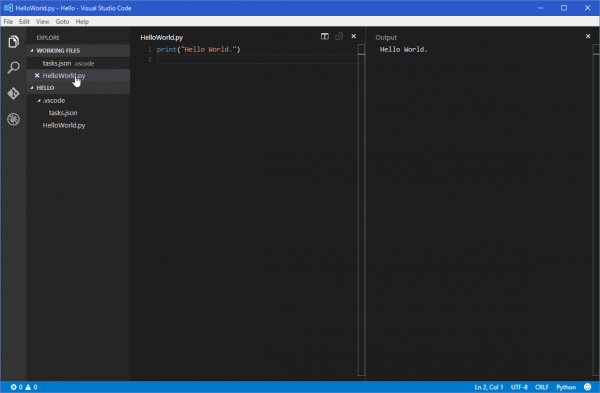 SnapCrab_HelloWorldpy - Hello - Visual Studio Code_2016-1-20_19-27-58_No-00