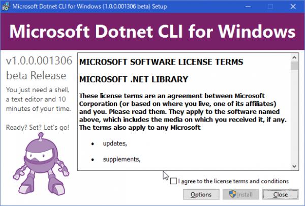 SnapCrab_Microsoft Dotnet CLI for Windows (100001306 beta) Setup_2016-2-16_21-18-22_No-00