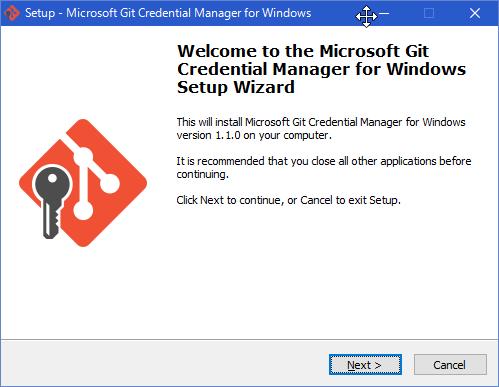SnapCrab_Setup - Microsoft Git Credential Manager for Windows_2016-2-7_13-0-11_No-00