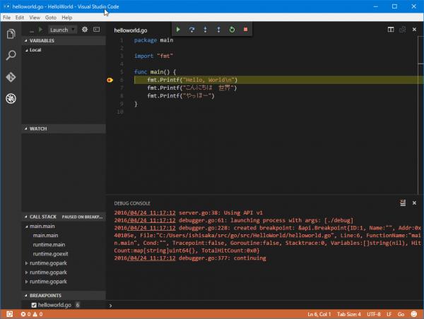 SnapCrab_helloworldgo - HelloWorld - Visual Studio Code_2016-4-24_11-18-37_No-00